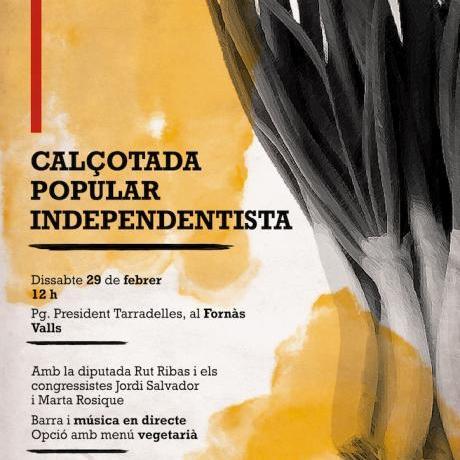 Calçotada popular independentista a Valls