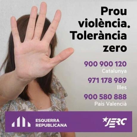 Campanya de les JERC i ERC contra la violència masclista