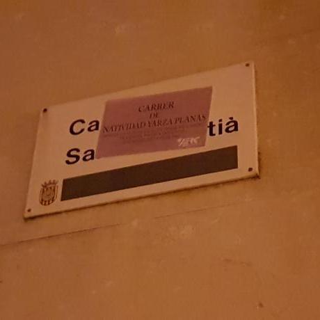 Placa del carrer Sant Sebatià