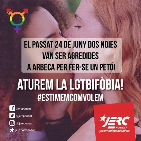 Aturem la LGTBIFÒBIA a Arbeca!