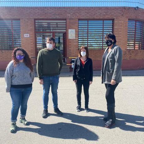 Kènia Domènech i Pau Morales van visitar a la presó Pablo Hasél