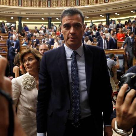 """La posició desitjada pel Jovent Republicà hagués estat votar """"No"""" a Pedro Sánchez / Fotogragria: Ballesteros (EFE)"""