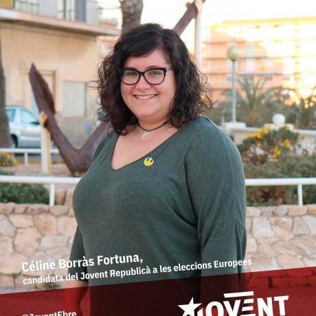 Céline Borràs i Fortuna, candidata del Jovent Republicà a les eleccions europees