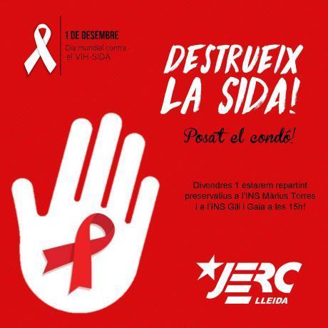Acció de les JERC-Lleida per l'1 de desembre de 2017
