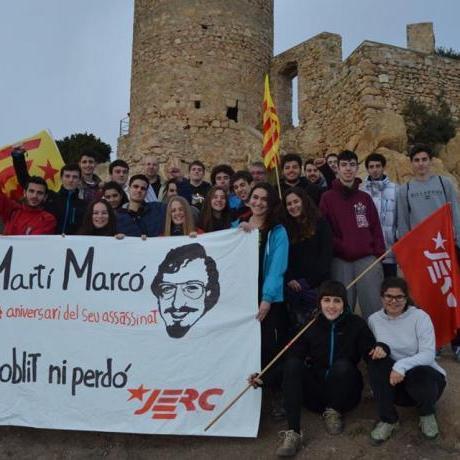Pancarta en homenatge a Martí Marcó