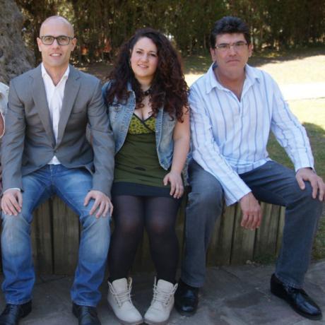 Imatge dels tres candidats que encapçalen la llista d'Ara Parets ERC.