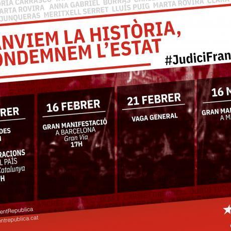 El Judici Franquista amenaça la democràcia i per això la mobilització és imprescindible