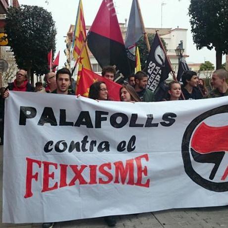 imatge de la manifectació del 25 de març: Palafolls contra el feixisme!