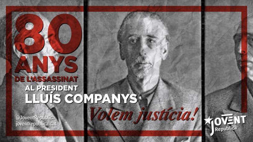 Avui fa 80 anys van assassinar el president Companys, però aquell crim el va fer immortal.