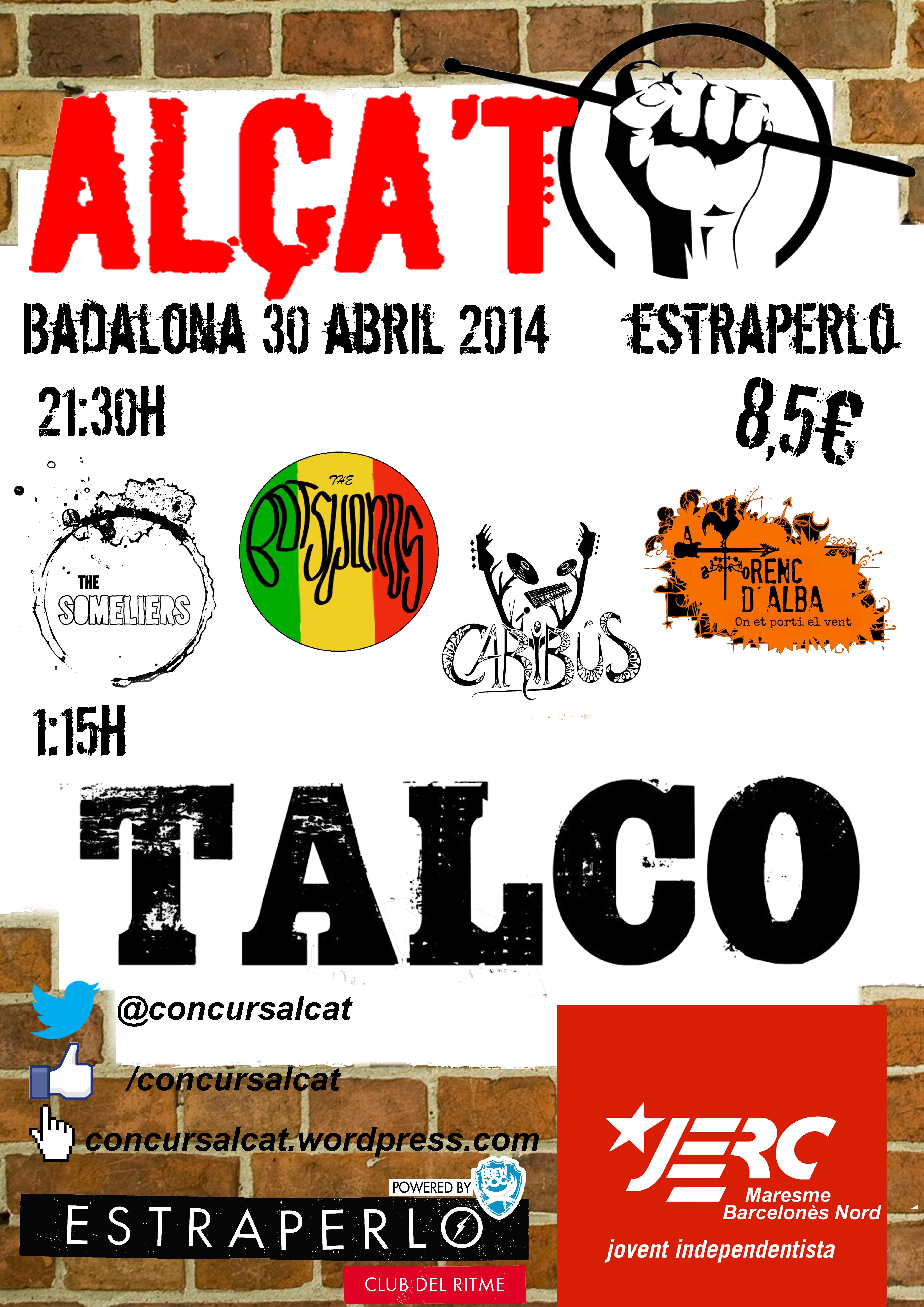Cartell de la Semifinal de Badalona del Concurs Alça't 2014