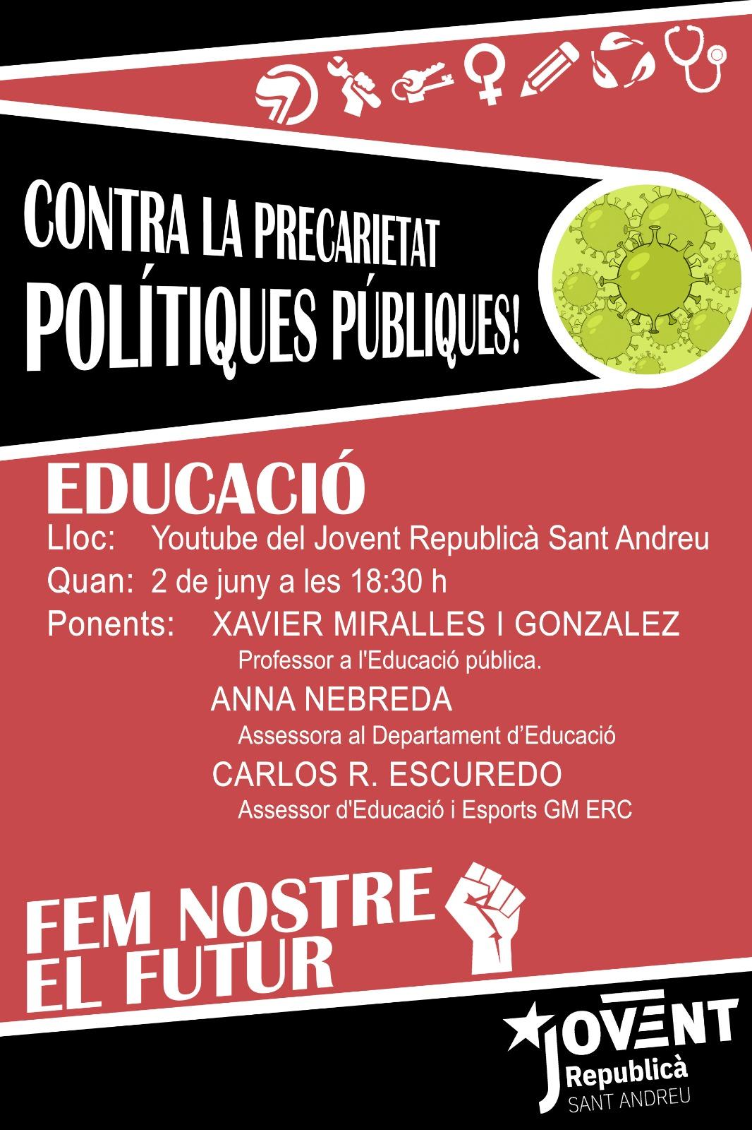 Contra la precarietat, polítiques públiques - Educació