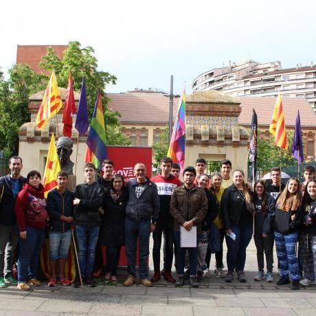 Roda de premsa de presentació del programa electoral i candidats del Jovent Republicà Lleida a les eleccions municipals de 2019