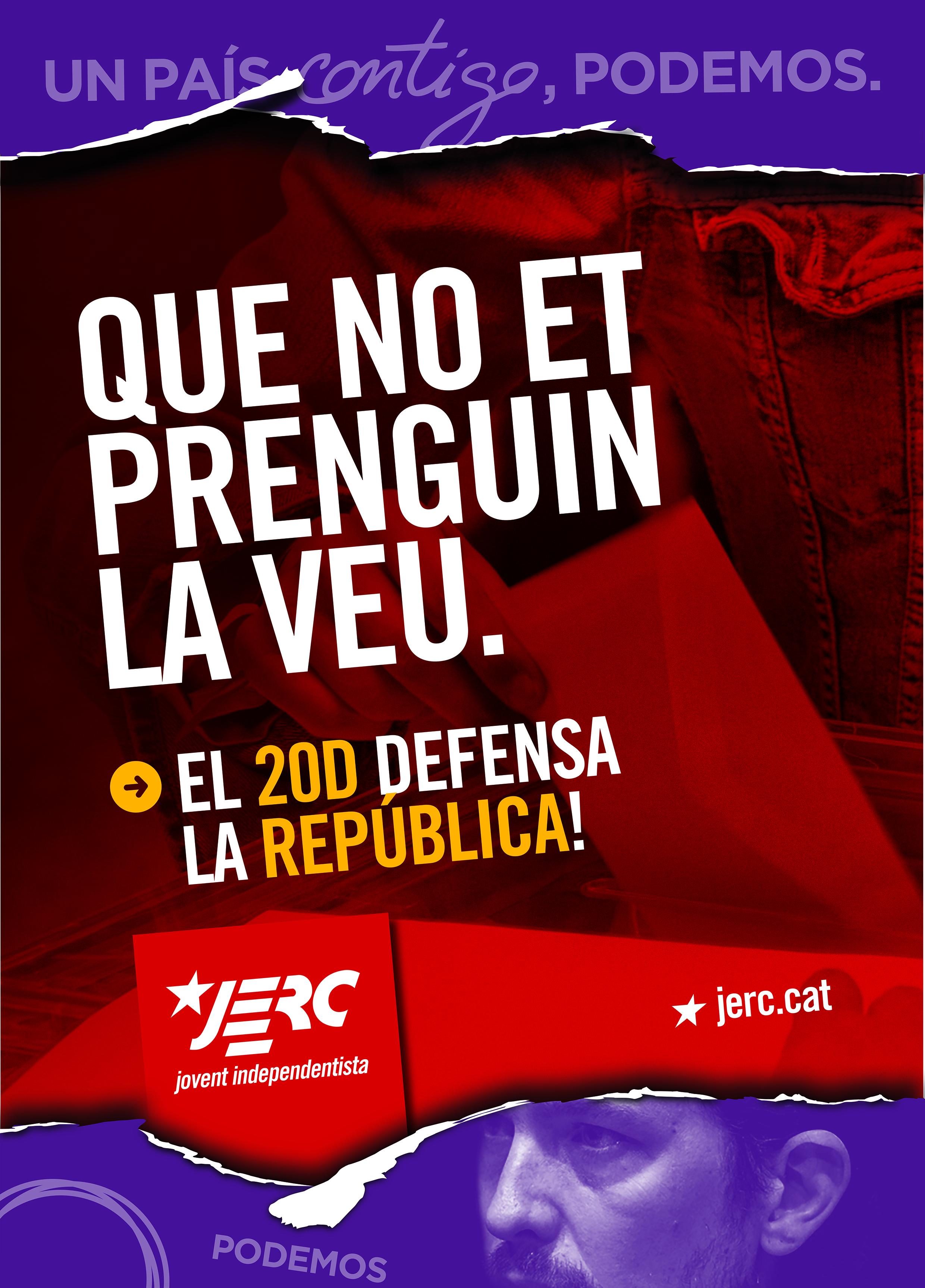 Un model de cartell de les JERC per aquesta campanya