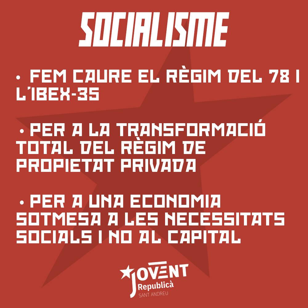Milita pel socialisme!