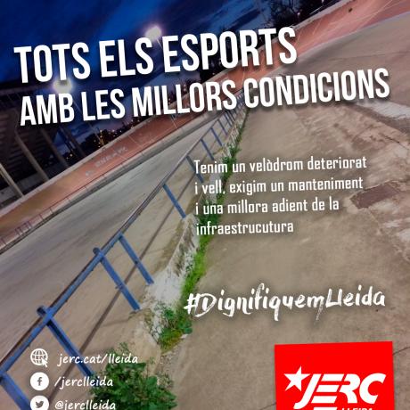 El Velòdrom Municipal de la ciutat de Lleida
