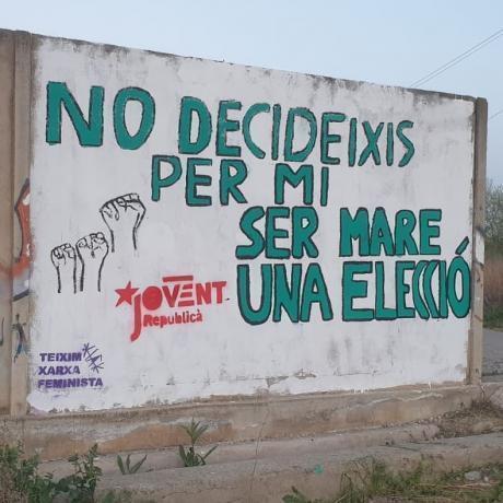 Mural defensa l'avortament.
