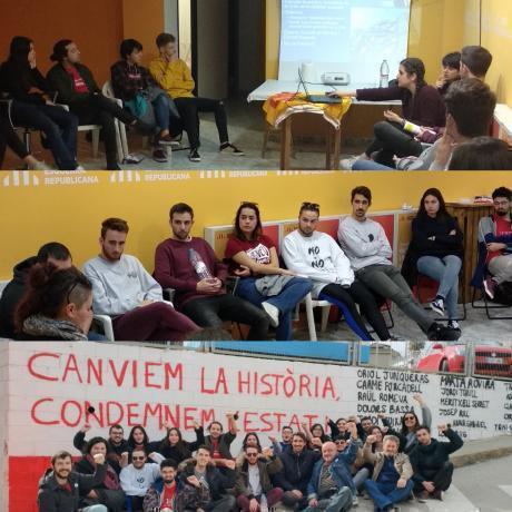 Tallers i mural realitzat per la militància pel Baix Avança 2019