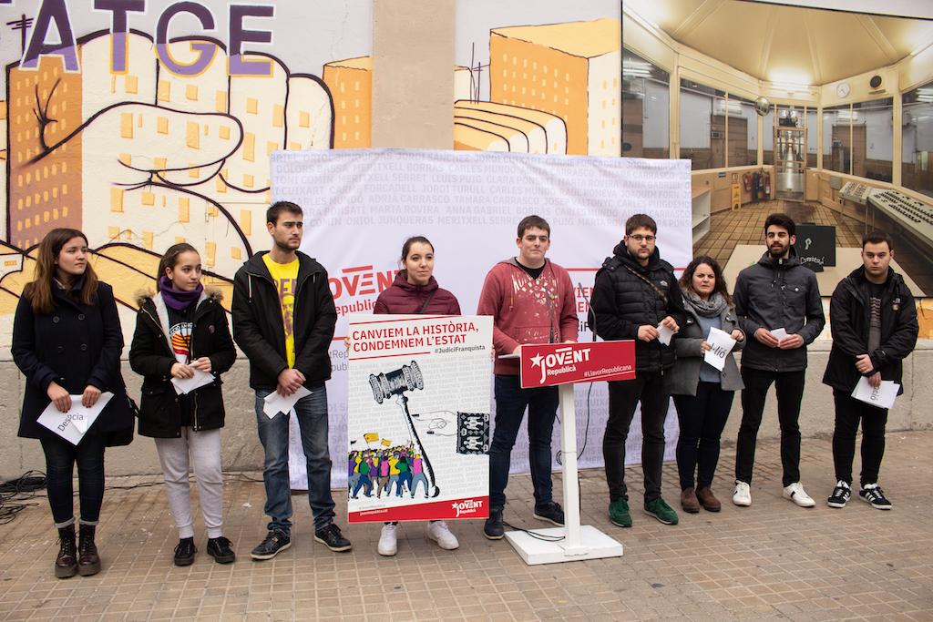 Pau Morales, portaveu del Jovent Republicà, ha explicat que només vencerem el judici si som capaços de mobilitzar-nos massivament