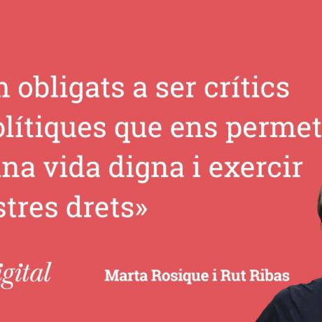 Rut Ribas, diputada al Parlament i Marta Rosique, diputada al Congrés