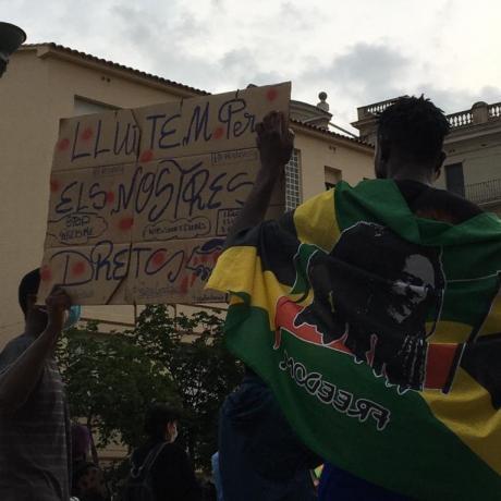 Concentració antiracista celebrada el 20 de juny a Girona