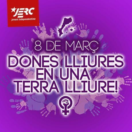 Imatge de les JERC per la diada del 8 de març