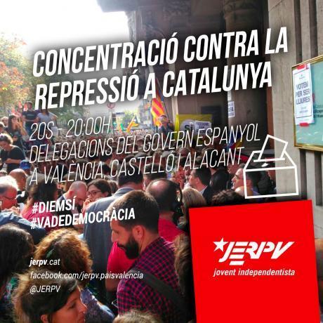 Contra la repressió a Catalunya