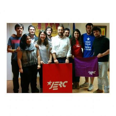 Foto final després de l'aprovació del programa amb Juli Fernàndez