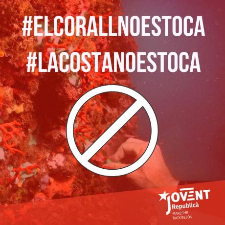 No a la pesca de corall vermell. Prou atacs a la nostra costa
