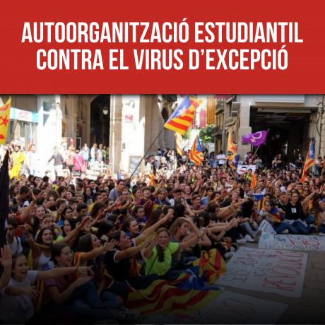 Autoorganització estudiantil contra el virus d'excepció