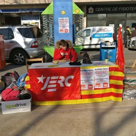 La parada de la recol·lecta del Jovent Republicà de Cassà