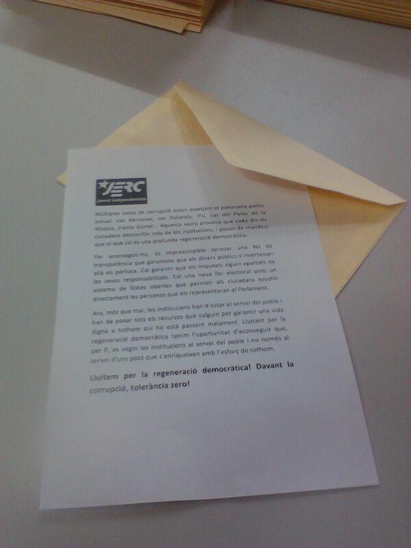 Carta contra la corrupció