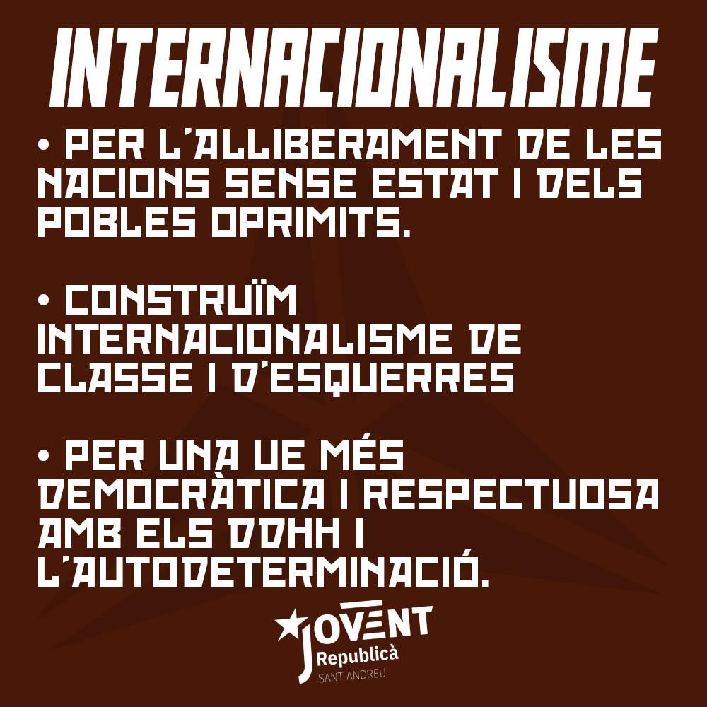 Milita per l'internacionalisme!