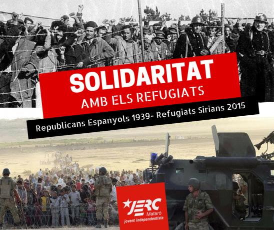 Comparació exiliats republicans al 1939 i exiliats siris al 2015