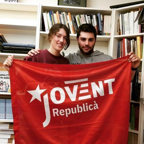 Els candidats Xènia Sala i Mario Rueda