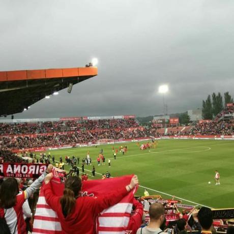 L'afició del Girona F.C. a Montilivi durant la temporada 2017-2018