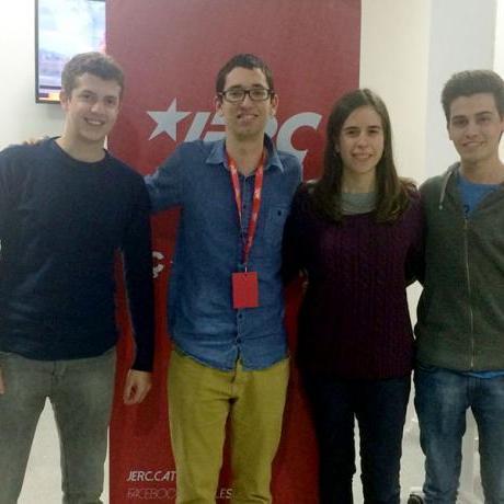 Els 4 membres de les JERC Vic que formen part de la candidatura d'ERC-SOM Vic | FOTO: JERC Vic