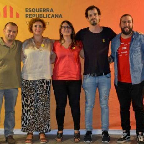 D'esquerra a dreta: Marc Riera, Myriam Moysset, Bàrbara Lligadas, Xavier Martin i Manel Membrilla