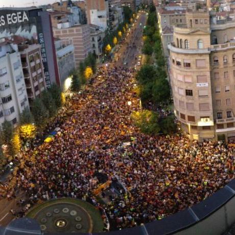 Concentració davant delegació del Govern de la Generalitat