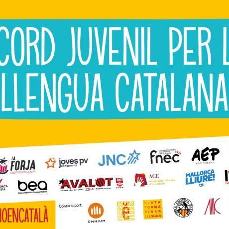 L'acord juvenil per la llengua catalana és una fita històrica sense precedents que agrupa 15 organitzacions juvenils d'arreu dels Països Catalans