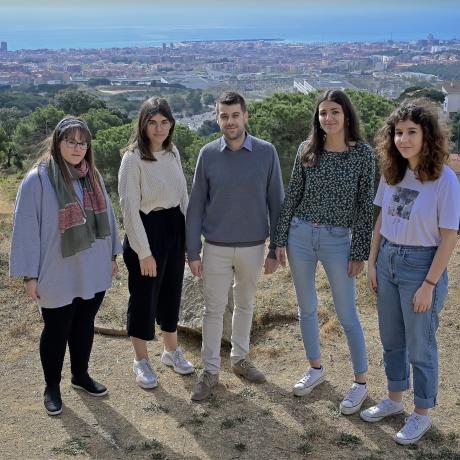 Imatge per presentar la candidatura del Jovent Republicà de Mataró a les llistes d'ERC.
