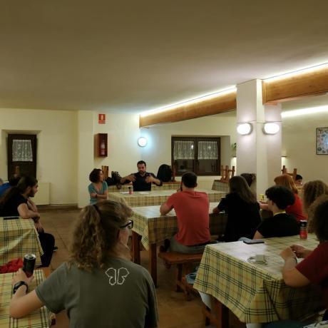 Sopar amb la candidata al Congrés, Laia Cañigueral, i el portaveu del Grup Municipal d'ERC a Girona, Quim Ayats