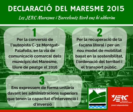 Eixos de la Declaració del Maresme 2015