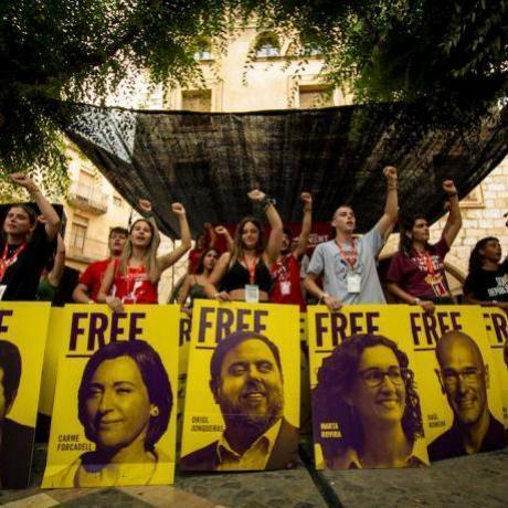 Al llarg de l'acte s'han reivindicat els presos i exiliats