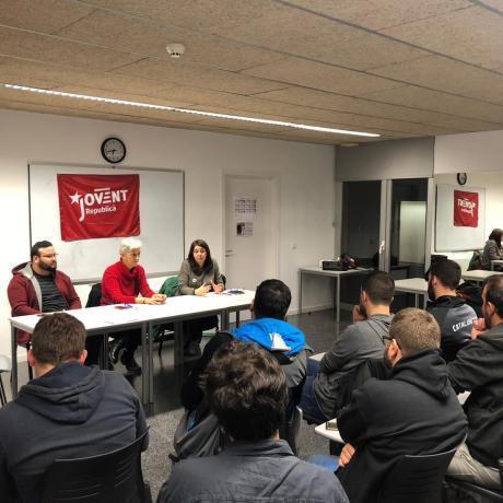 Acte del Jovent Republicà de Girona al CC de Pedret