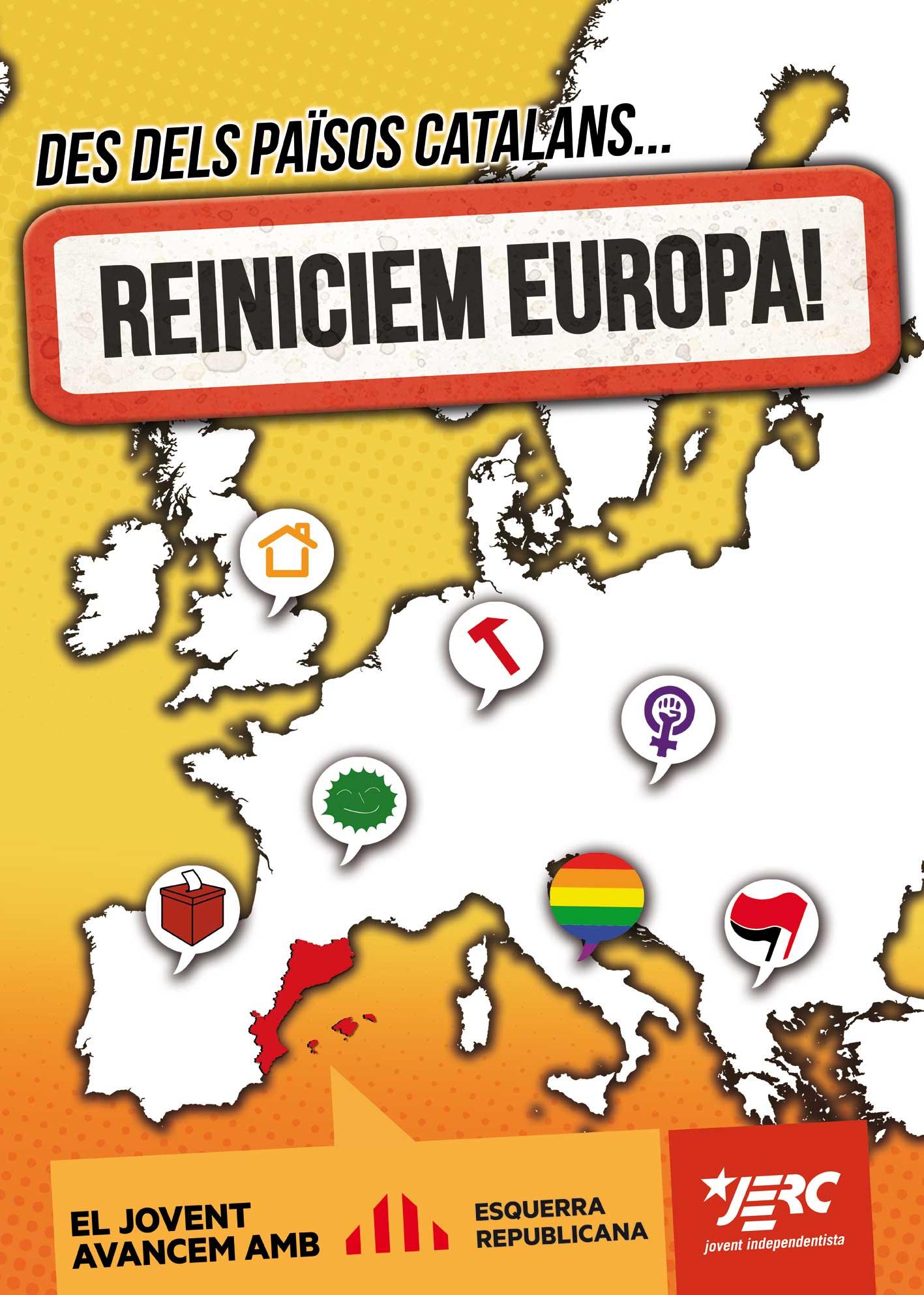 cartell de la campanya de les JERC a les eleccions europees