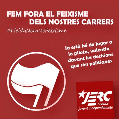 Cartell de la campanya #LleidaNetaDeFeixisme