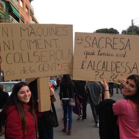 Les JERC Baix Llobregat a la manifestació contra el pla Caufec