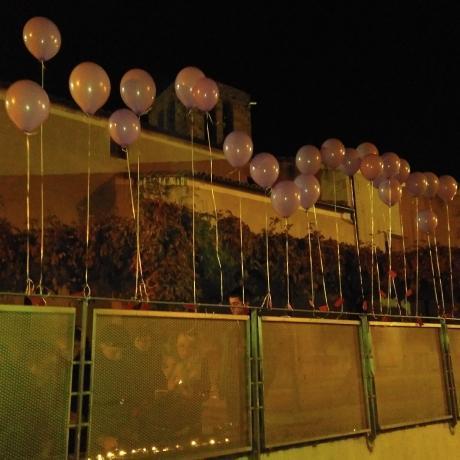 Les JERC Caldes de Malavella inflen globus en record dels 24 femincidis aquest any als Països Catalans