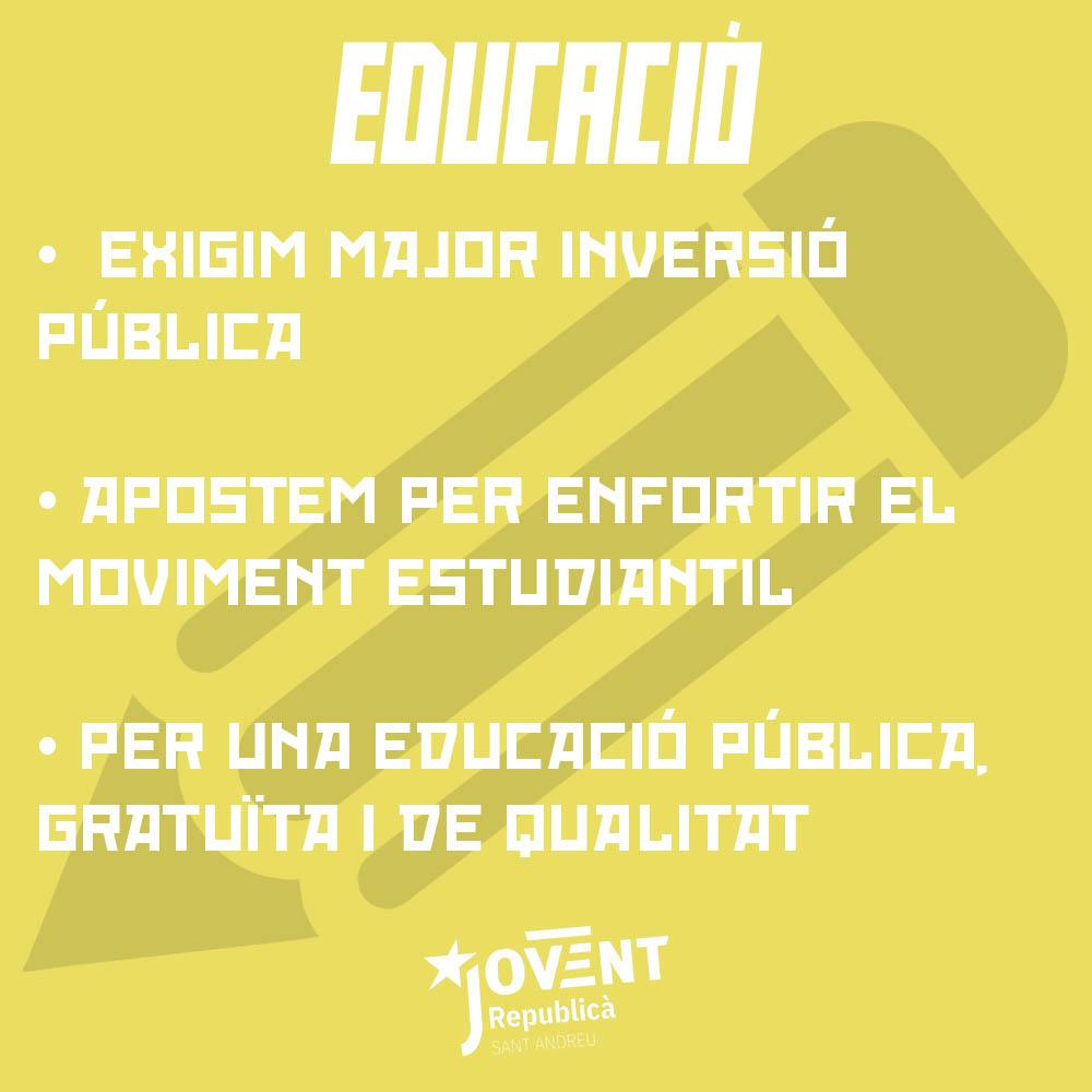 Milita per l'educació!