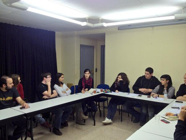 Alguns assistents del Comitè Territorial amb la Marta Vilalta